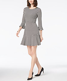 Charter Club Ruffled Printed Dress, Created for Macy's