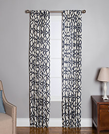 "Miller Curtains Othello Cotton 50"" x 63"" Geo-Print Twill Window Panel"