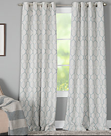 "Miller Curtains Alain 50"" x 63"" Geo-Print Energy-Efficient Window Panel"