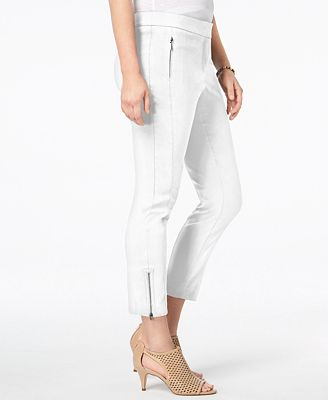 Style & Co Ankle-Zip Skinny Pants, Created for Macy's