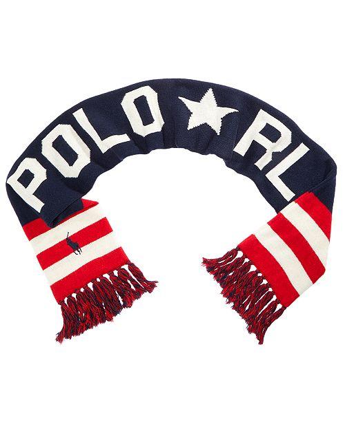 Polo Ralph Lauren Men s Reversible Olympics Scarf  Polo Ralph Lauren Men s  Reversible Olympics ... 95fe56192c872