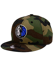 New Era Boys' Dallas Mavericks Woodland Team 9FIFTY Snapback Cap