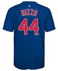 Majestic Anthony Rizzo Chicago Cubs Poly Player T-Shirt, Big Boys (8-20)