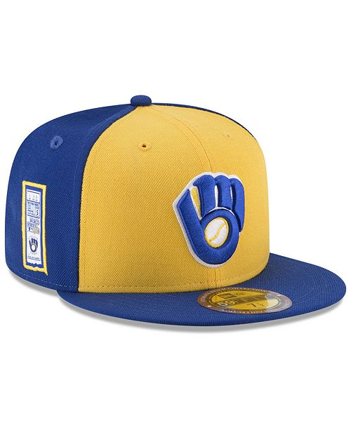 reputable site d1edd e5d4c ... New Era Milwaukee Brewers Ultimate Patch Collection World Series  59FIFTY Fitted Cap ...