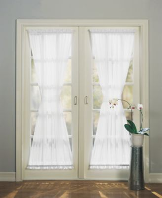 "No. 918 Sheer Voile 59"" x 72"" Door Panel"