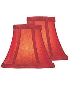 "Lite Source Set of 2 Clip-on 6"" Silk Chandelier Shade"