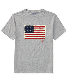 Ralph Lauren Graphic Cotton T-Shirt, Little Boys