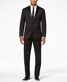 Men's Ready Flex Slim-Fit Stretch Black Notch Lapel Tuxedo