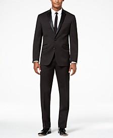 Men's Ready Flex Slim-Fit Stretch Black Notch Lapel Tuxedo