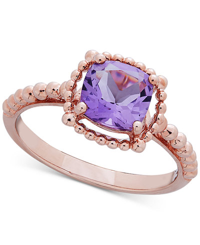 Amethyst Beaded Ring (1-1/3 ct. t.w.) in 10k Rose Gold