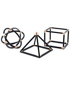 Zuo Black Geo Shapes, Set of 3