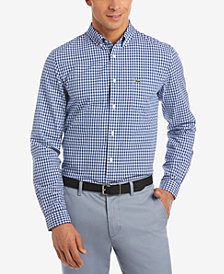 Lacoste Men's Gingham Pop Shirt
