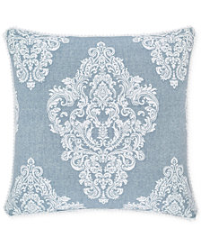 "Piper & Wright Ansonia Indigo 20"" Square Decorative Pillow"