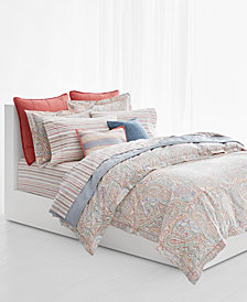 CLOSEOUT! Lauren Ralph Lauren Cayden Cotton Percale 3-Pc. Paisley King Duvet Cover Set
