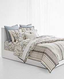 Lauren Ralph Lauren Devon Cotton Percale Reversible 3-Pc. King Duvet Cover Set