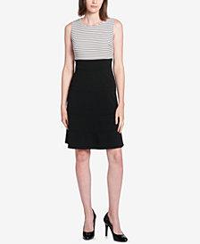 Tommy Hilfiger Striped-Top Swing Dress