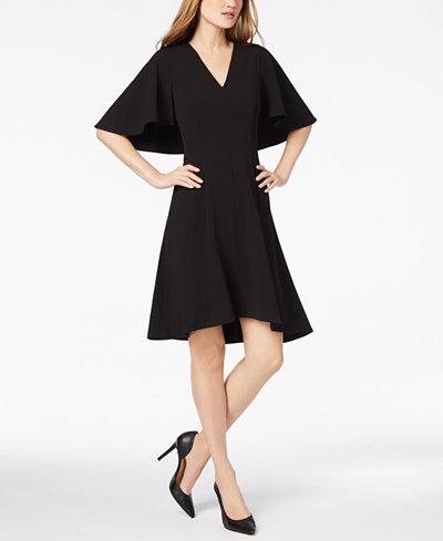 Calvin Klein A-Line Capelet Dress