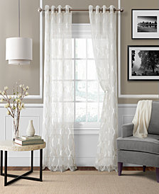 elrene sonata sheer grommet 52 x 84 panel - White Sheer Curtains