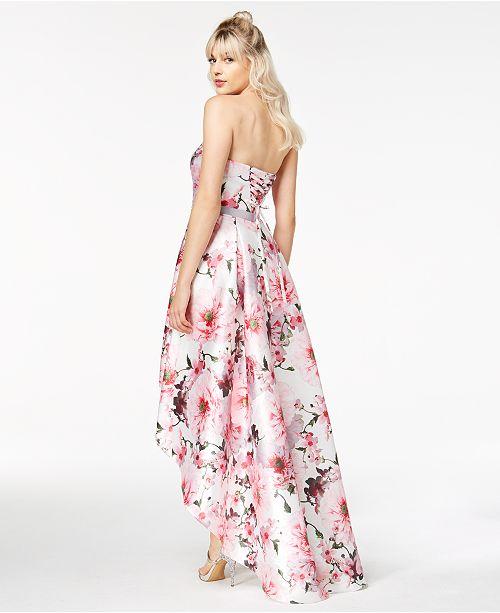 c78c8c5a364 ... City Studios Juniors  Floral-Print High-Low Gown