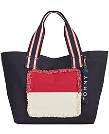 Tommy Hilfiger Classic Tommy Flag Canvas Tote