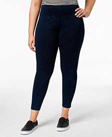 Lysse Women's Plus Size Tight Ankle Denim Leggings