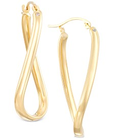Signature Gold Twist Hoop Earrings in 14k Gold over Resin, Created for Macy's