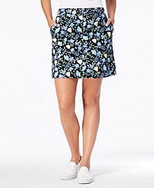 Karen Scott Floral-Print A-Line Skort, Created for Macy's