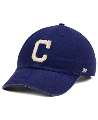 '47 Brand Cleveland Indians Timber Blue CLEAN UP Cap