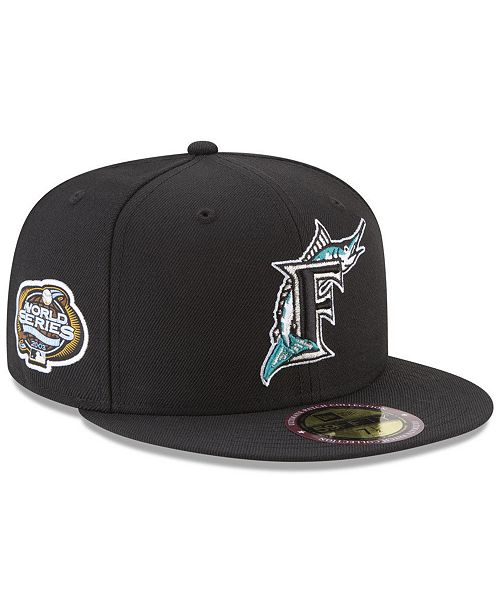 low priced 497ba cb2de New Era Florida Marlins Ultimate Patch Collection World Series 2.0 59Fifty  Fitted Cap ...