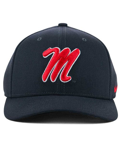 d2aa3c2d ... best price nike ole miss rebels anthracite classic swoosh cap sports  fan shop by lids men