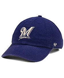 '47 Brand Milwaukee Brewers Timber Blue CLEAN UP Cap