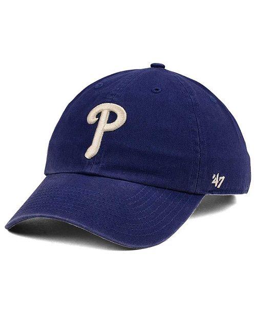 separation shoes a58af 932e7  47 Brand Philadelphia Phillies Timber Blue CLEAN UP Cap    ...