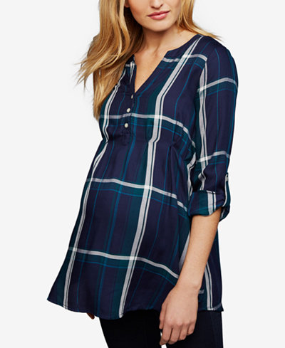 A Pea in the Pod Roll-Sleeve Blouse