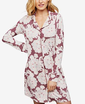 A Pea In The Pod Printed Button-Front Nursing Nightgown