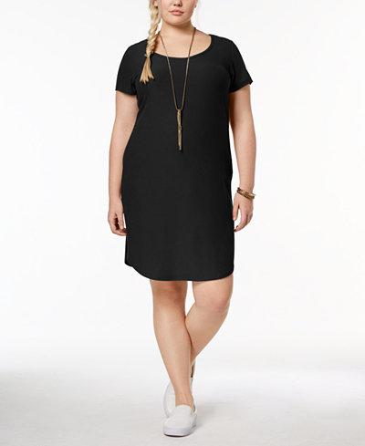 Planet Gold Trendy Plus Size Kylie T-Shirt Dress - Dresses - Plus ...