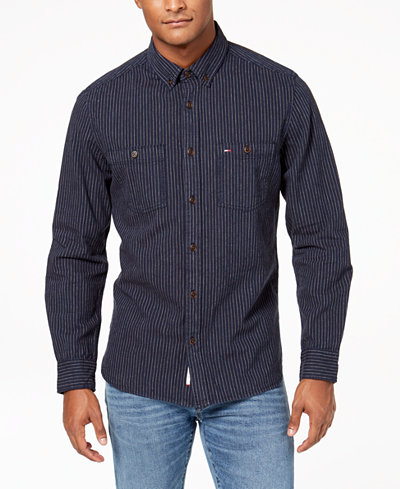 Tommy Hilfiger Men's Pinstripe Shirt