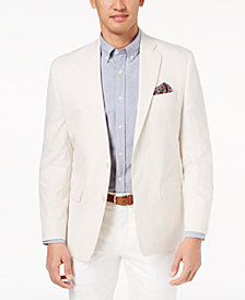 Lauren Ralph Lauren Men's Big & Tall Classic-Fit Ultraflex Seersucker Sport Coat