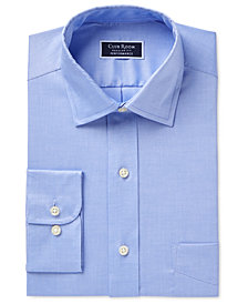 Club Room Men's Classic/Regular Performance Pinpoint Dress Shirt, Created for Macy's