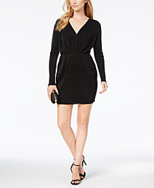 BCBG Textured Knit Surplice Dress
