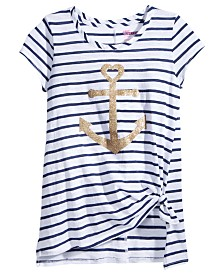 Epic Threads Tie Front Anchor T Shirt Big Girls Created For Macys