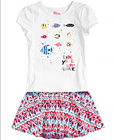 Epic Threads Graphic-Print T-Shirt & Printed Skirt Separates, Toddler Girls, Created for Macy's