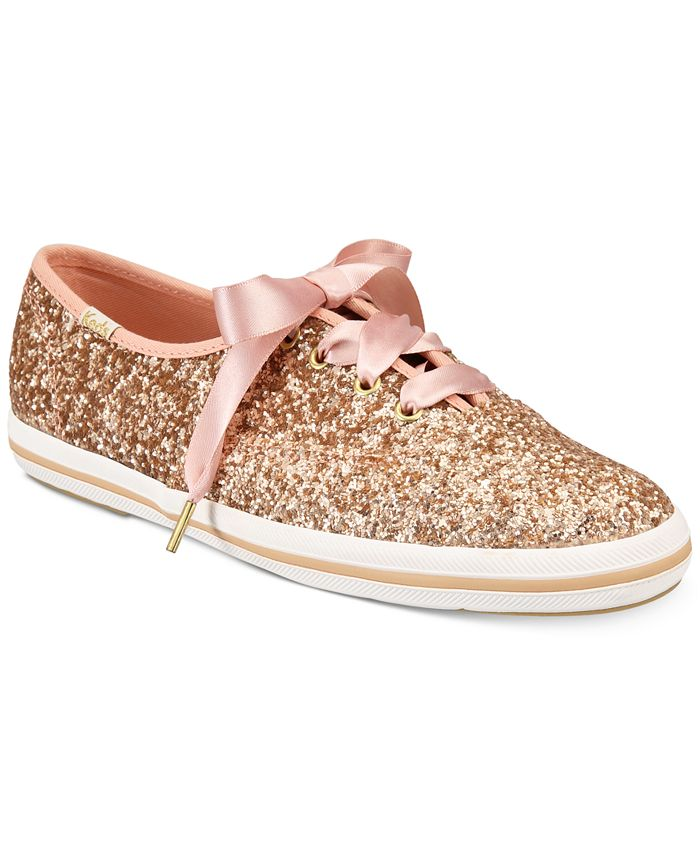 kate spade new york - Glitter Lace-Up Sneakers