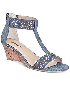 Rialto Cleo Embellished Wedge Sandals