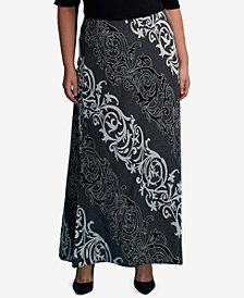 ECI Plus Size Jacquard Maxi Skirt