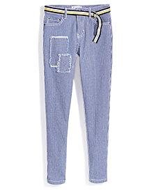 Nowadays x Bailee Madison Railroad Striped Denim Jeans, Big Girls & Juniors