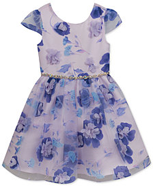 Rare Editions Floral Appliqué Dress, Toddler Girls, Created for Macy's