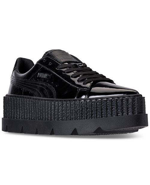 Puma Women's Fenty Pointy Creeper Patent Casual Shoe, Black