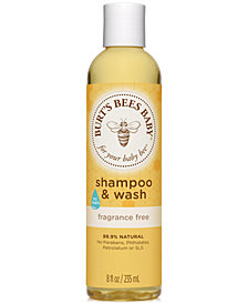 Burt's Bees Baby Bee Fragrance-Free Shampoo & Wash, 8 fl. Oz.