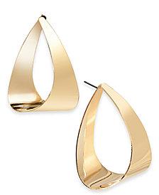 I.N.C. Gold-Tone Triangle Hoop Earrings, Created for Macy's