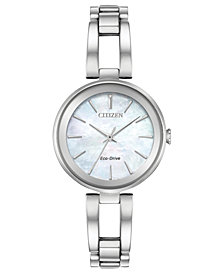 Citizen Women's Eco-Drive Axiom Stainless Steel Bracelet Watch 28mm